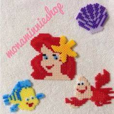 The Little Mermaid set perler beads by monaminnieshop