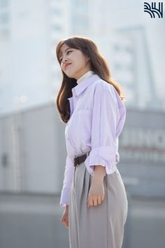 Korean Actresses, Actors & Actresses, Park Bo Young, Work Looks, Kdrama, Parks, Bell Sleeve Top, White Dress, Photoshoot