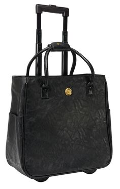 Upgrade your briefcase for style on wheels! This mobile masterpiece is the ideal tote for the jet-setter or girl on the go. Includes a padded laptop sleeve and retractable handle. Rolling Briefcase, Rolling Bag, Anna Griffin, Laptop Sleeves, Tote Bag, Lady, Accessories, Shopping, Style