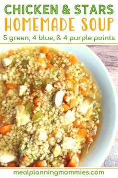 Chicken and Stars Soup - Meal Planning Mommies Beef Recipes, Soup Recipes, Great Recipes, Healthy Recipes, Chicken Recipes, Picky Eater Lunch, Picky Eaters, Weight Watchers Soup, Small Pasta