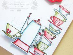Handmade get well card ... Blog: EnchantINK ... Stampin' Up! - Morning Cup