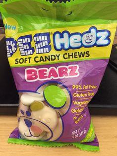 Pez hedz soft candy chews bearz