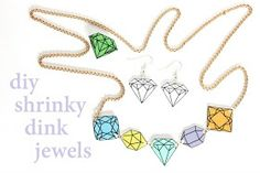 shrinky dink diy jewellery tutorial