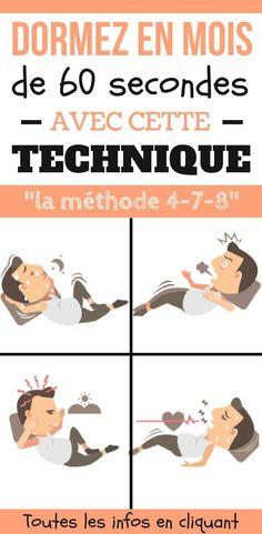 """Vous voulez dormir rapidement ? 60 secondes ça vous va ? Pour dormir très rapidement, le Docteur Andrew Weil prétend avoir trouvé le moyen de faire somnoler n'importe quels insomniaques en 60 secondes - et cela sans utiliser des médicaments. Surnommée la technique de respiration 4-7-8, la méthode est décrite comme un """"tranquillisant naturel pour le système nerveux """". Comme le précise le docteur Andrew Weil : vous allez dormir très rapidement. #dormir #sommeil #astuces #chasseursdastuces…"""