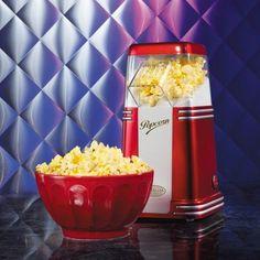 Mit diesen Retro Mini Popcorn Maker verschönern Sie jeden Home-Kino-Abend. Produzieren Sie köstliches Popcorn mit dieser Retro-Maschine selber! Diese Popcorn-Maschine macht IhrenDVD-Abend zum Kinoerlebnis!