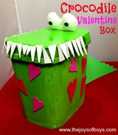 Crocodile Valentine Box - The Joys of Boys