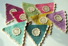 Flags for crochet garland | Flickr - Photo Sharing!