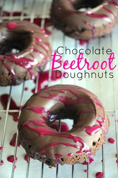 Chocolate Beetroot Dougnuts