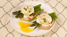 Roasted Asparagus with Poached Eggs and Champagne Beurre Blanc