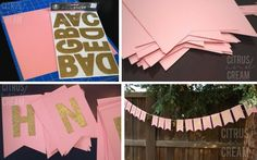 #Wedding #Banner #DIY Even though this particular banner was for a birthday, it can easily be tweaked to work for any type of event, including a wedding. It's time to hit the dollar store!