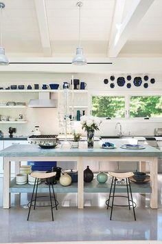 decoración de cocinas azules. www.linea3cocinas.com