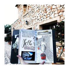 "Gefällt 303 Mal, 19 Kommentare - Sketchnotes by Diana ❤️✏️❤️ (@dianasoriat) auf Instagram: ""Good Morning Mallorca! I love Fincas!! .  Guten Morgen! Ich mag mallorquinische Fincas! Innen ist…"""