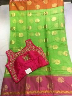 Cora silk saree with semistiched blouse Price :7300+⛵  Order WhatsApp 7995736811