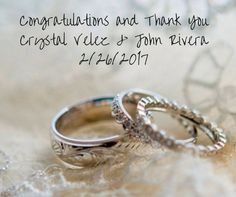 We are so grateful that you chose us to share your special day with you. Congratulations!