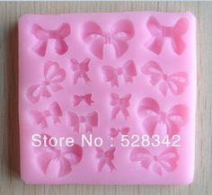 FLY 3D Silicone Zipper Shape Cake Mold Fondant Candy Tools,Pink