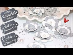 (24) Come fare i fiori con il fommy ✂️ DIY  Tutorial ✂️  Flowers Fommy - YouTube Foam Crafts, Big Shot, Tutorial, Mini Bag, Place Cards, Place Card Holders, Video, Biscotti, Flowers