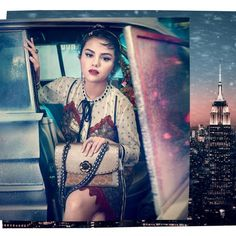 Selena Marie Gomez is an American singer and actress. She began her career starring in the children's television series Barney & Friends. Selena Gomez Coach, Selena Gomez Photos, Photoshoot Pics, Marie Gomez, Old Actress, Celebs, Celebrities, Fashion Bags, Hairstyle