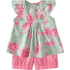 Conjunto Infantil para Menina de Verão Floral Rosa - Milon :: 764 Kids | Roupa bebê e infantil