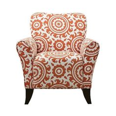 handy living upholstered chair orange sorbet 300 liked on polyvore featuring home