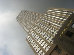 Empire State Building under grey skies NYC