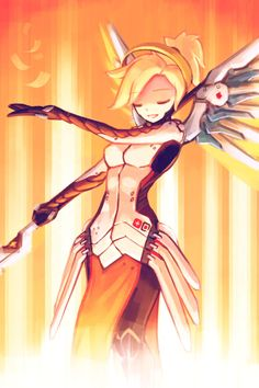 I was fortunate to participate in the Overwatch beta test weekend. Like playing MMOs, I love to play the support class and wanted to make sure I can quickly draw something for Mercy before the insp...