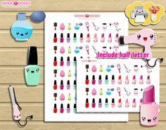 Hair Stylish and Make up kit Nail polish lipstick Print and