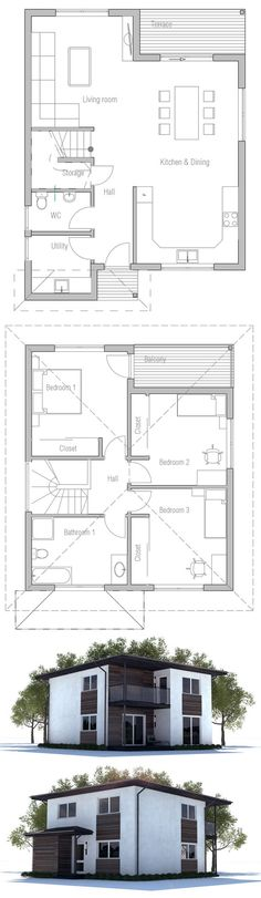 Small House Plan. Modern Architecture, Affordable Home