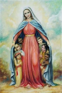 Shop Blessed Virgin Mary Catholic Religious Children created by ShowerOfRoses. Catholic Art, Religious Art, Immaculée Conception, Images Of Mary, Jesus And Mary Pictures, Saint Esprit, Queen Of Heaven, Mama Mary, Religious Pictures
