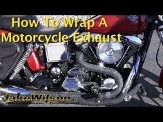 Want to add a custom look to the bike? We show you how to wrap your motorcycle exhaust! Check it out! Bobber Parts, Motorcycle Exhaust, Exhausted, Wraps, Racing, Motorbikes, Youtube, Motorcycles, Random