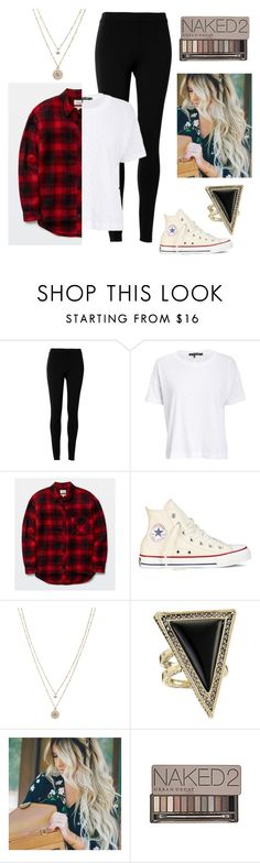 """""""Untitled #3"""" by hannahmarie0018 on Polyvore featuring Max Studio, rag & bone/JEAN, Converse, LC Lauren Conrad, House of Harlow 1960, Urban Decay, women's clothing, women, female and woman"""