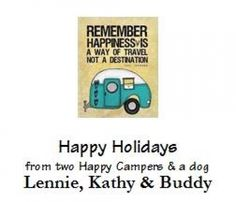 Happy Holidays from our RV to yours!