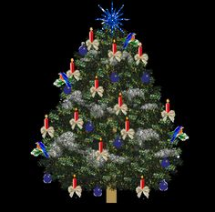A Christmas tree is a decorated tree, usually an evergreen conifer such as spruce, pine, or fir associated with the celebration of Christmas. Description from imgarcade.com. I searched for this on bing.com/images