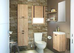 D co wc carr s de peinture couleur marron rouge pi ces de monnaie toilettes et design - Deco van wc ...