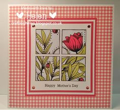 Using '4 Block Tulip Square' from Bugaboo Stamps