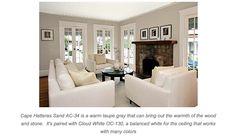 paint color: BM Cape Hatteras Sand and Cloud White