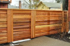modern fence with gate