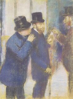 Here is Portraits at the Stock Exchange by Edgar Degas. Part of our hats in art history section at Village Hats. Edgar Degas, Romantic Period, Academic Art, Portraits, Impressionist, Fine Art Prints, Poster Prints, Canvas, Hats