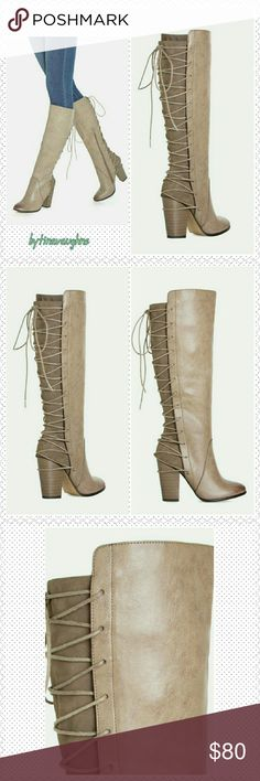 Rola Grey Boots Brand new super cute view from behind!  Where these boots with some cute blue jeans! They cross lace all the way up the back of the boot, which addes a chic look. Rola Grey Boots Shoes Lace Up Boots