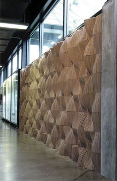 sound-absorbing cardboard wall sculpture in modules, designer Tung Chiang, Splace