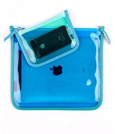 Clearly Cool waterproof iPad + iPhone cases // Echo Design