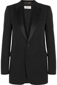 Black wool Button fastenings through front 100% wool; trim: 100% polyester; lining: 100% silk Dry clean Made in Italy