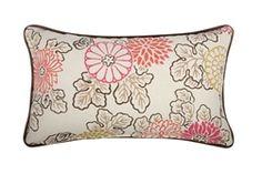 Yokohama Birds Pillow - Reversible Design!