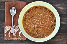 Lentil & Black Bean Soup with Andouille Sausage - Thanks @Courtney | Cook Like a Champion