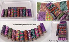 Paper Bead Tube Bead And Double Hole Wraps by PassionForPaperBeads
