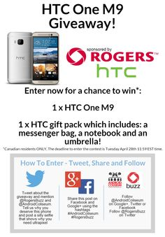 Android Coliseum: Enter our HTC One Giveaway! Thing 1, Htc One M9, Giveaway, Android, Tech, Link, Hot, Tecnologia, Technology