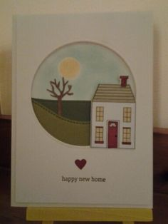 Stampin' Up Holiday Home - new home card