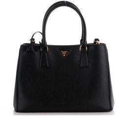 PRADA Saffiano Lux Medium Tote Nero Black ❤ liked on Polyvore featuring bags, handbags, tote bags, tote bag purse, prada tote bag, prada, medium tote and tote purses