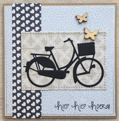 LindaCrea: I Like to Ride my Bicycle Masculine Birthday Cards, Masculine Cards, Marianne Design Cards, Spinner Card, Bicycle Cards, Window Cards, Diy Cards, Stampin Up Cards, Making Ideas