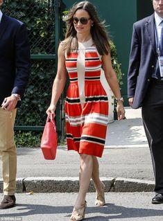 Temperley dress, Coach Legacy Mini Tanner bag in coral, Ash Jade wedge sandals