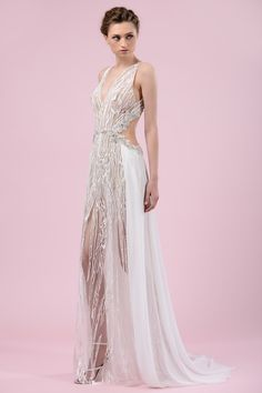 Gems Maalouf glam wedding dress. Click on the image to see our gallery of unusual wedding dresses.